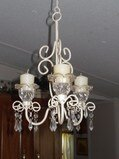 French Shabby Scroll Chandelier