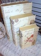 French Bird Book Style Boxes