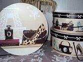 Shopping Diva 3 PC Hat Box Set