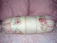 Pink Roses Bolster Pillow
