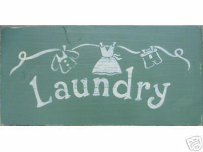Cottage Style Laundry Sign