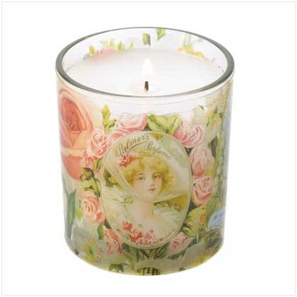 Home Decor Boutiques on B13795 Victorian Roses Candle This Rose Scented 7 Oz Candle In
