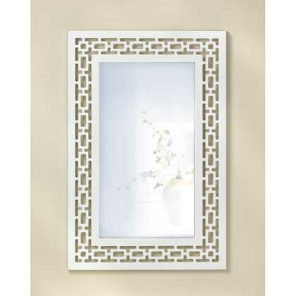 White Geometric Mirror