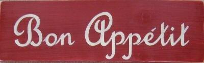 Bon Appetit Kitchen Sign