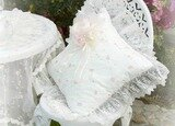 Light Ivory Romance Square Pillow