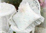 Light Ivory Romance Square Pillow