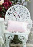 Roses And Pearls Pink Rectangle Pillow