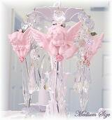 Pink Cherub Medium Chandelier Charms