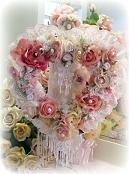 Pink Floral Cherub Wreath