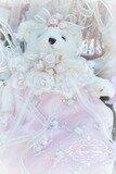 Roses & Pearls Beaded Bear