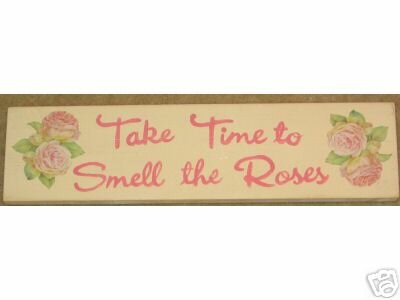 Pink Roses Shabby Sign