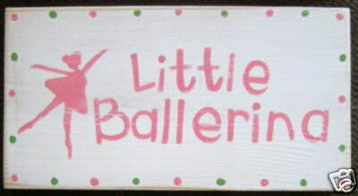 Pink Ballerina Wall Sign