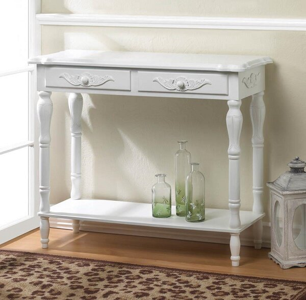 Merveilleux #16841 White Hall Table. Our Products U003e White Hall Table