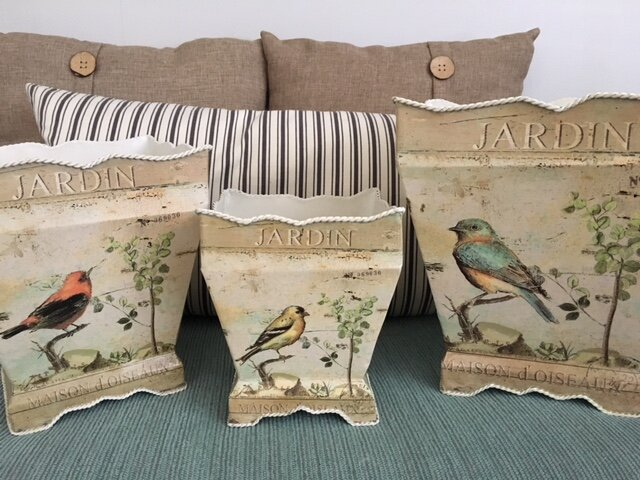 French Bird Tins
