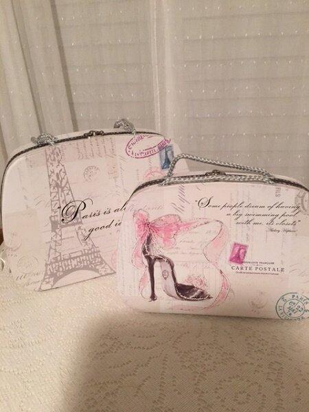 Parisian Theme Suitcase Boxes