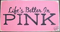 Shabby Pink Painted Sign