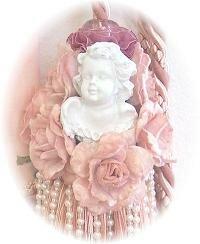 Pink Victorian Cherub Tassels