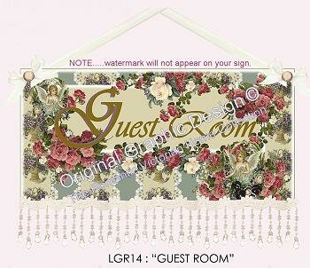 Victorian Style Guest Room Sign