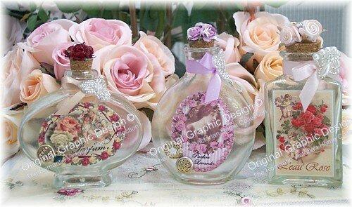 Victorian Perfume Vanity Bottles