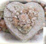 Gilded Cherub Heart Box