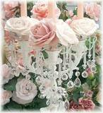 Romantic Roses Chandelier Wreaths