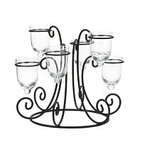 Scrollwork Candle Display