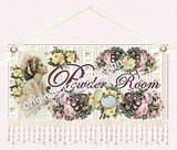 Romantic Decor Powder Room Sign